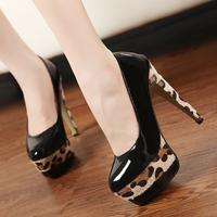 Free shipping fashion star style leopard print platform ultra high heels pumps 9023 PPXX