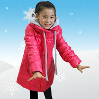 13 child down coat female coat medium-long down child down coat