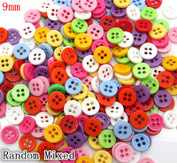 500 Pcs Random Mixed Resin 4 Holes Sewing Buttons Scrapbooking 9mm Knopf Bouton