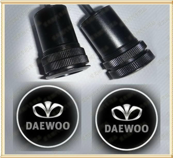 Free shipping DAEWOO LOGO Car LED Emblem Welcome Light Door Step Ground Projecting Lamp(China (Mainland))