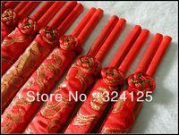 1set 10 Pairs of Wooden Sakura Chopsticks Ukiyoe Tableware red Chopsticks Happy chinese wedding Gift