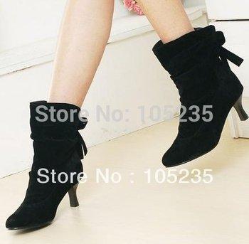 ankle boots Женщины Модный Короткий boot winter footwear high heel shoes sexy snow ...