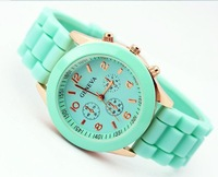 Wholesale  jelly watch ladies brand silicone watches women men children fashion quartz watch for men Free Shipping by SG