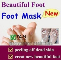 Superfine peeling Foot Mask Health Care Foot Care Mask Foot Care Exfoliating Free shipping 2pcs/pair  (no outter paper box)