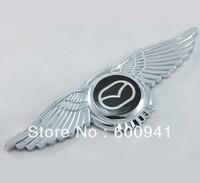 1 PCS   Mazda Chrome Car Metal Auto Wing Hood Ornaments Trunk Fender Badge Emblem Chrome Finished