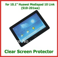 "3pcs Clear Screen Protector Film Size 252x170.5mm for 10.1"" Huawei Mediapad 10 Link (S10-201wa) No Retail Package Free Shipping"
