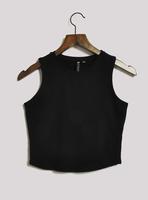Fashion vintage high waist short design slim top bare midriff basic small vest women's  crop top