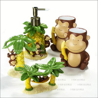 Cartoon resin banana five pieces set of bathroom birthday gift