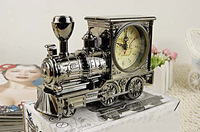 Antique locomotive cartoon alarm clock creative fashion home children's gifts