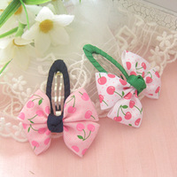 Child hair clips pink cherry drop clip bb clip