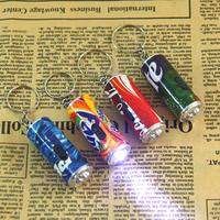 free shipping key chain ring bag box 5044 creative night light pepsi cola sprite finda keychain small flashlight  20pcs/lot