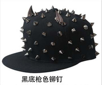 free shipping 2013 new! Womens Punk&Rock Rivets studded coin hat Spikes Baseball Cap hiphop hip-hop flat COOL caps