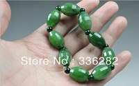 Natural a cargo spinach green jade and nephrite bracelet beads to send her boyfriend a birthday present Dad