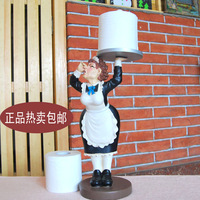 Fashion paper towel holder resin waterproof reeling-up stand floor toilet paper holder