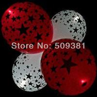 250 pcs/Lot, Free Shipping, Led Light Flashing Balloons, Star style. Festival, Party, Wedding Decoration, 8 Colour. 5Pcs/ Bag.