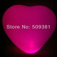 100 pcs/Lot, Free Shipping, Led Light Flashing Balloons, Heart style. Festival, Party, Wedding Decoration, 5 Colour. 5Pcs/ Bag.