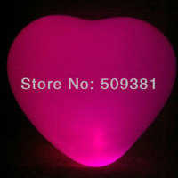 100 pcs/Lot, Free Shipping, Led Light Flashing Balloons, Heart style. Festival, Party, Wedding Decoration, 5 Colour. 5Pcs/ Bag.