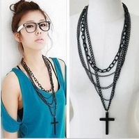 Min.order is $10 (mix order)32H32 Fashion Personality Multilayer Cross Necklace Jewelry wholesale!Freeshipping!