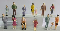 FREE SHIPPING 100pcs Painted Model Train Passenger People Figures Scale 1:25 about 7.8CM height