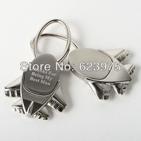 "Personalized ""Destination Wedding"" Plane Keyrings (Set of 4)"