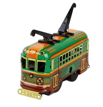 Nostalgic classic toy the streetcars iron sheet wind up toys
