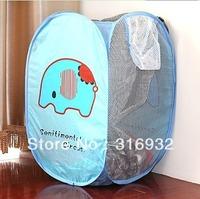 P3 Free shipping, sentimental circus elephant mouton design storage basket for  Clothes 1PC
