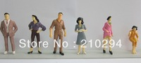 FREE SHIPPING 100pcs Painted Model  People Figures Scale 1:25 ABOUT 7.8cm Height