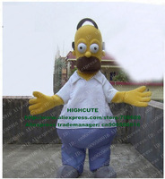 Homer Mascot Costume Simpson Adult Cartoon Character Mascotte Mascota Outfit Suit No.1705 Free Ship