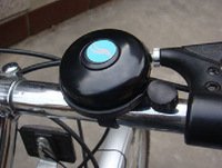 Black New Cycling Bike Bicycle Handlebar Mechanical Aluminum Bell Ring Loud Horn