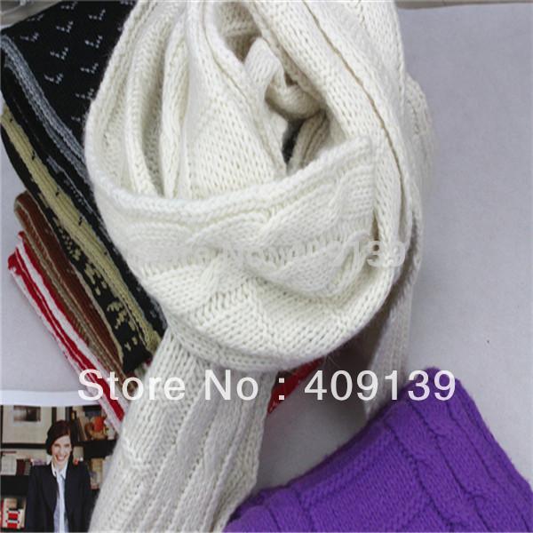 New fashion 2014 knit winter scarf female Diamond stripe pashmina knit warm scarves for women lady long scarfs free ship(China (Mainland))