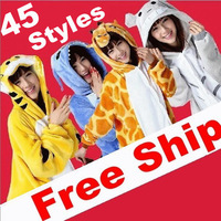 10pcs/lot All In ONE Adult Animal Pajamas Sleepsuit Kigurumi Onesie Cosplay Costume Unisex