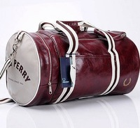 Free shipping 2013 fashion men casual handbag sports bucket shoulder bag messenger cylinder gym bag