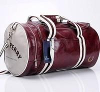 Free shipping 2013 fashion men casual handbag sports bucket shoulder bag messenger cylinder gym bag