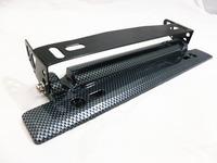 SALE GOOD PRICE, Adjustable Carbon Fiber Look Bumper Plate, License plate frame,C148