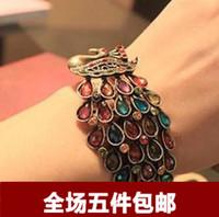 Peacock diamond luxury bohemia peacock bracelet fashion jewelry accessories