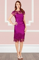 2013 Spring Summer After V Sexy Perspective Gauze Patchwork British Ladies Lace Embroidered  Brand Name KM The Dress