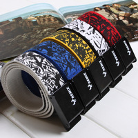 Fashion doodle 2013 inkjet canvas wide belt strap casual all-match lovers male women's