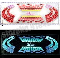 """90*25CM LED Sound Music Activated EL Sheet Car Stickers Equalizer Glow Flash Panel with """"Music"""" Light Flashing  Free shipping"""