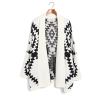 2013 Fashion Novelty cardigan sweater for Women,New arrival loose knitted sweater women,black and white,1pcs free shipping