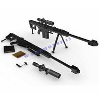 Free shipping new products for 2013 paper model weapon Barrett M82 Sniper rifle 1:1 waterproof gun magazine 3d paper puzzles toy