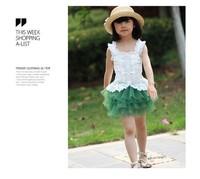 HOT 2013  children lace sweet shire  kid  mini  shirt    Layered dress