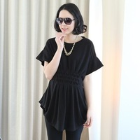 2013 maternity clothing summer fashion plus size summer maternity top loose one-piece dress