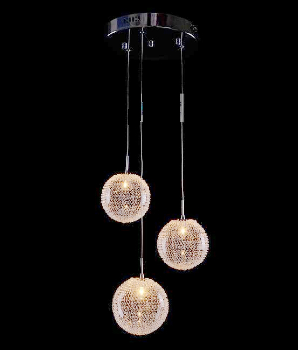 H100cm New Modern Contemporary 3 Wire Ball Rain Drop Light