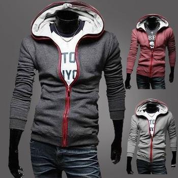 Free Shipping Cheap Designer Clothes For Men Fashion Sweatshirt With A Hood Cardigan Slim Thickening Fleece