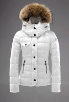 Down coat female plus size down coat women white down coat fur collar large