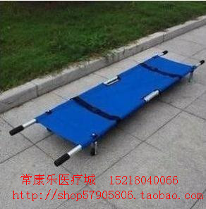 2013new Stretcher thickening type aluminum alloy stretcher medical ambulance car stretcher folding