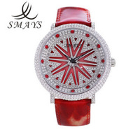 2013 smays new trend of fashion leather strap watch lady watch diamond dress watch quartz watch free shipping