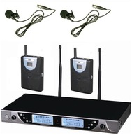 New UHF Dual Wireless Lavalier Lapel Microphone System_Wireless clip microphone