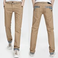 Male casual pants casual pants water wash cloth male color block decoration casual pants casual pants male fashion male