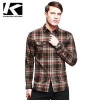 2012 NEW MEN'S CASUAL PURE COTTON THICKEN SHIRT, FASHION PLAID LONG-SLEEVE SHIRT FOR MEN, TOP QUALITY FREE CHINA POST SHIPPING